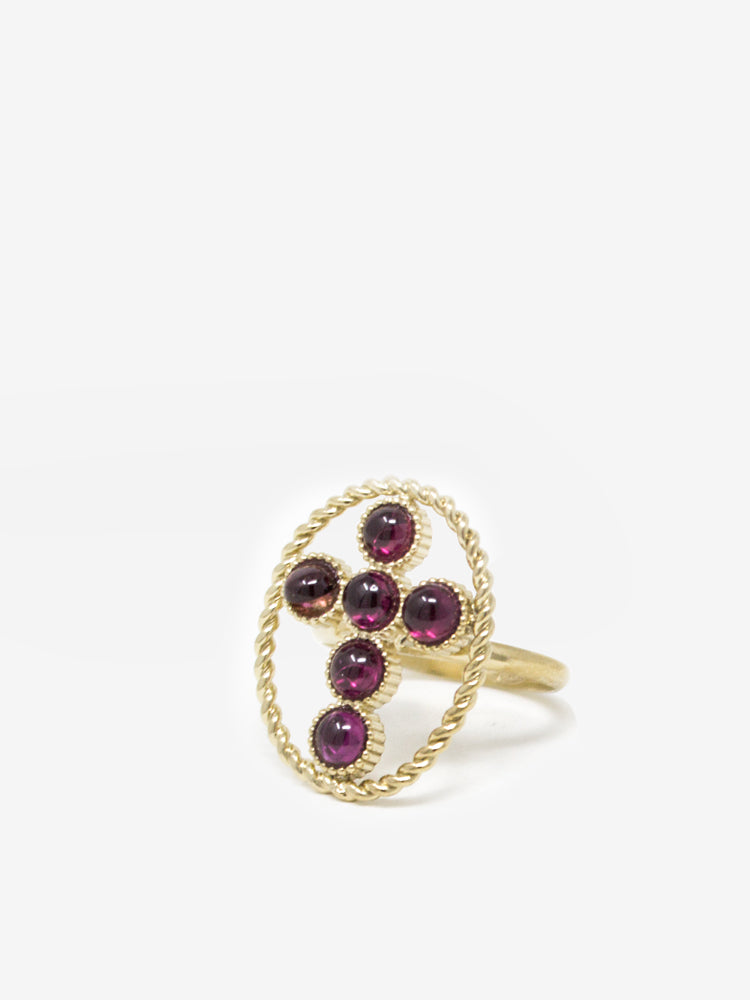 Hope Gold-plated Rhodolite Ring