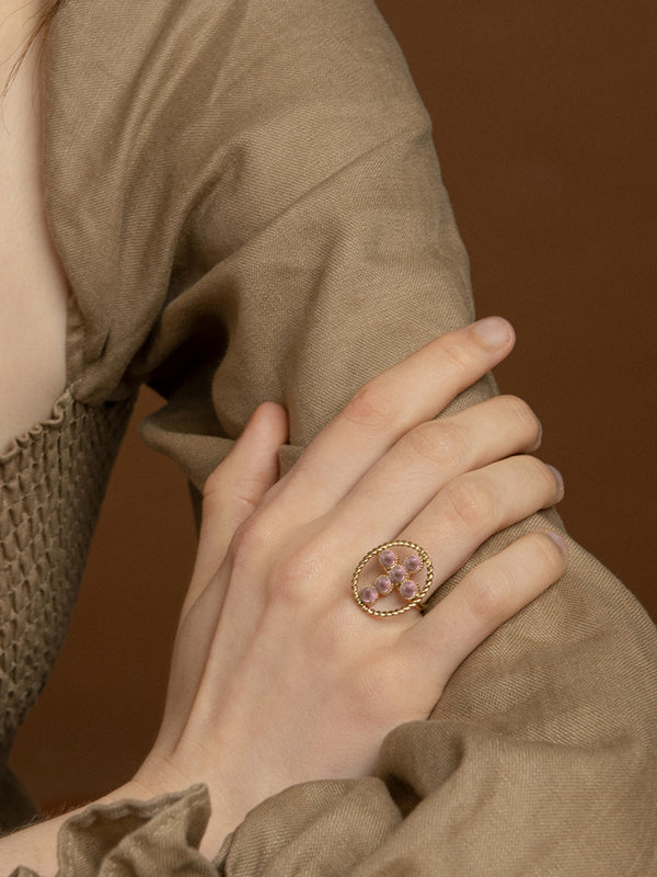Hope Gold-plated Pink Tourmaline Ring