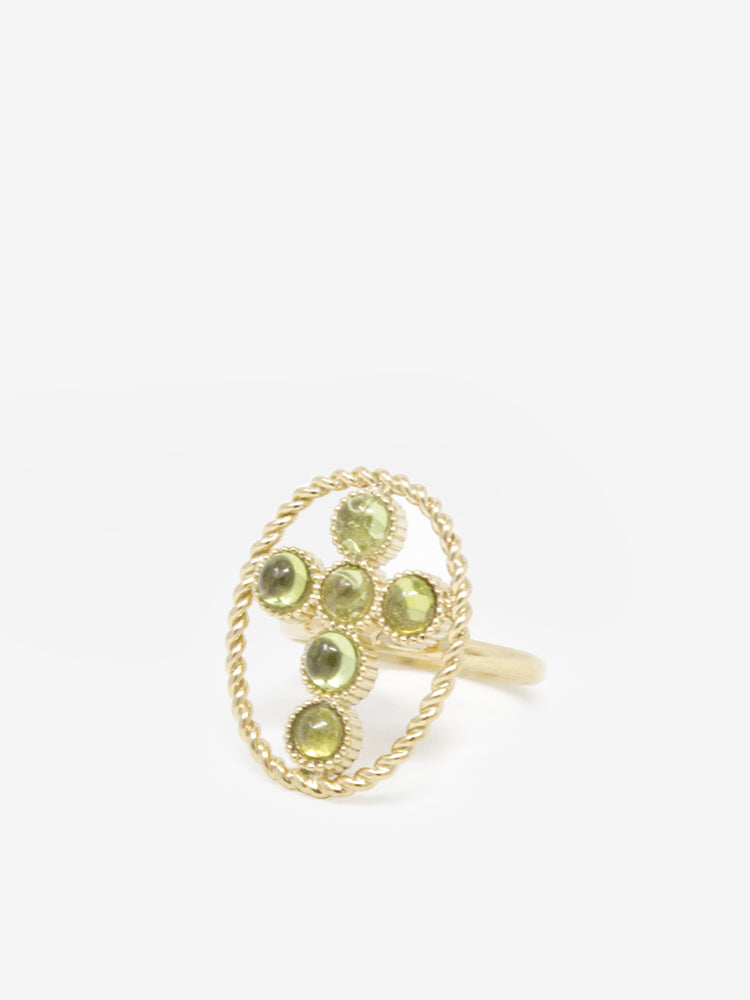 Hope Gold-plated Peridot Ring