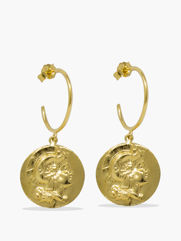 Achilles Gold-plated Hoop Earrings