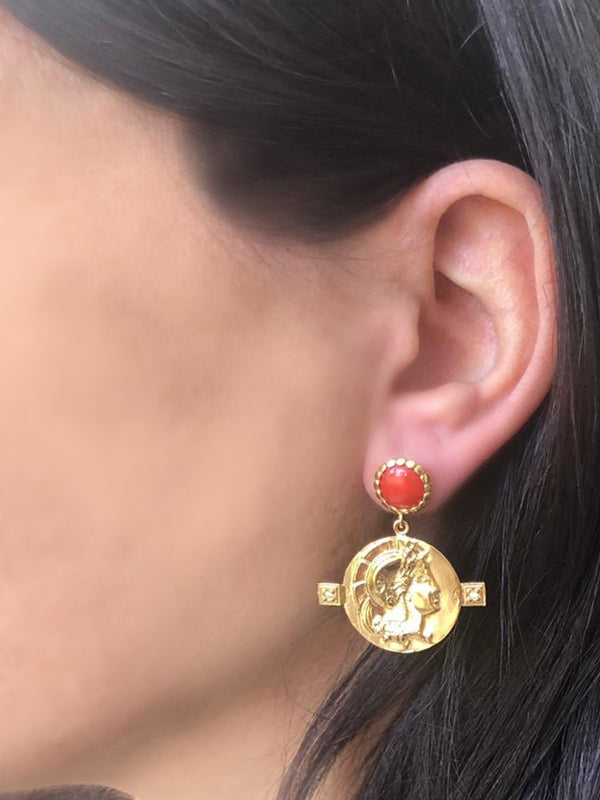 Achilles Coral Earrings