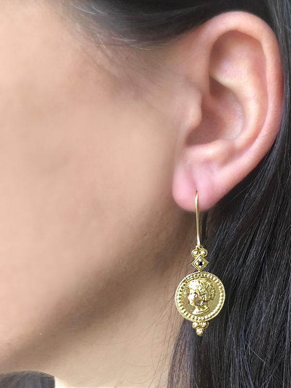 Cleopatra Gold-plated Earrings