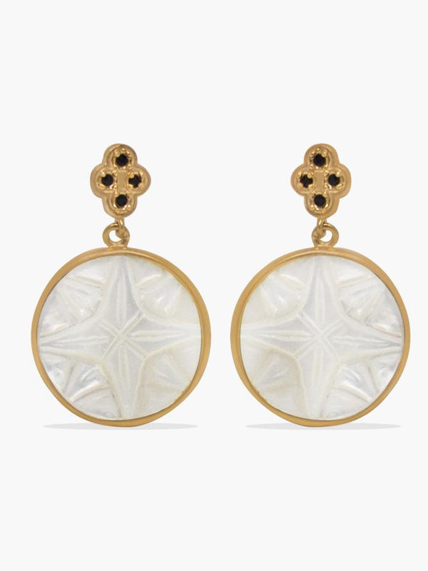 Rose Des Vents Rose-plated Mother of Pearl Earrings