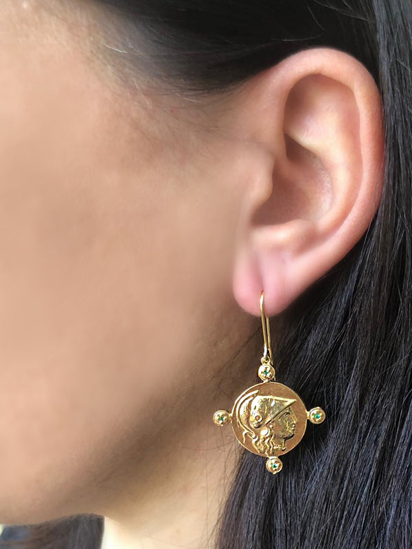 Athena Gold-plated Earrings