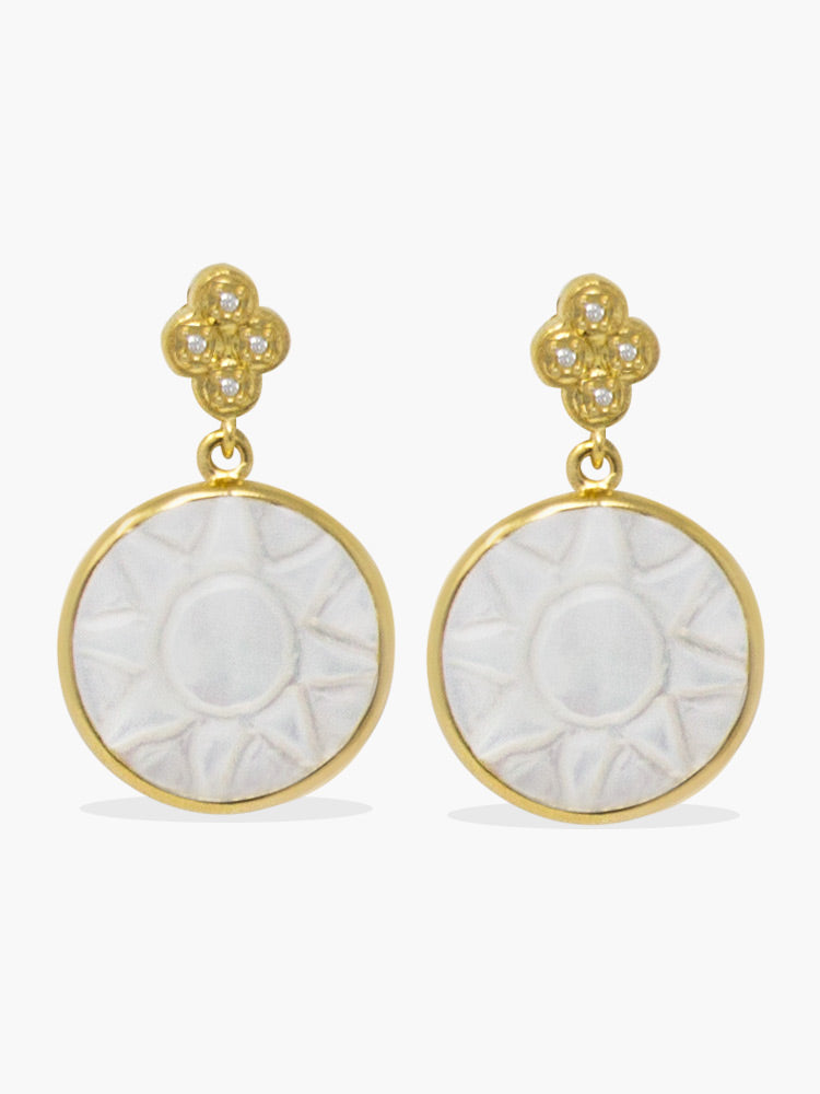 Le Soleil Gold-plated Mother Of Pearl Earrings