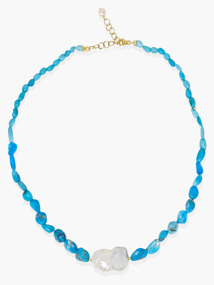 Azzurra Turquoise & Pearl Necklace