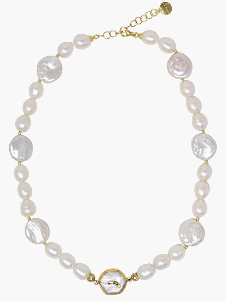 Over The Rainbow Pearl Statement Necklace