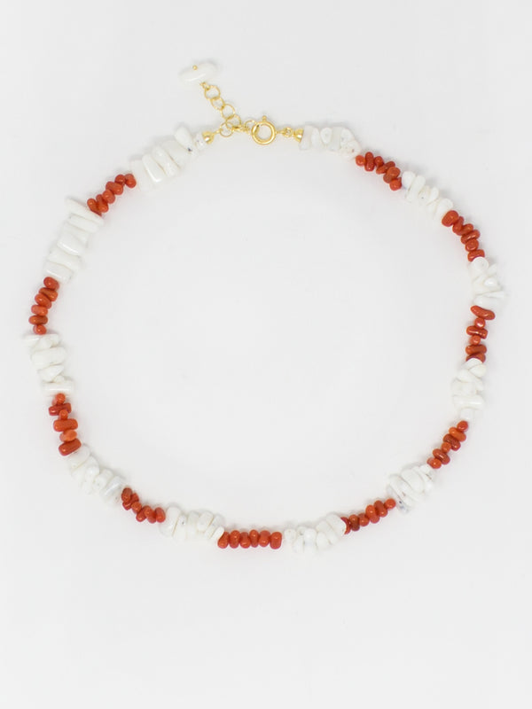 Mediterraneo Shell & Coral Necklace by Vintouch Jewels