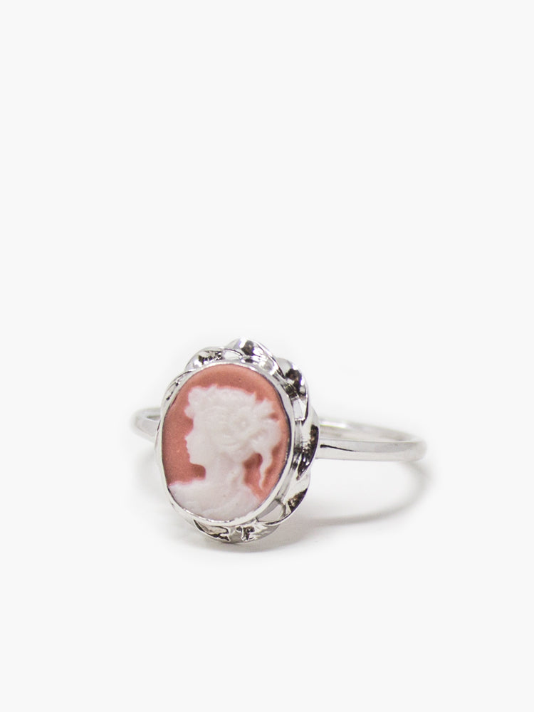 Vintouch's Pink Mini Cameo Stacking Ring.