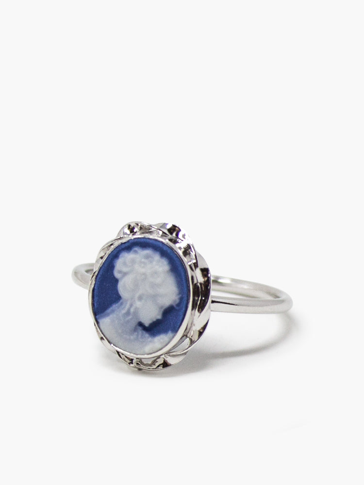 Blue Mini Cameo Stacking Ring