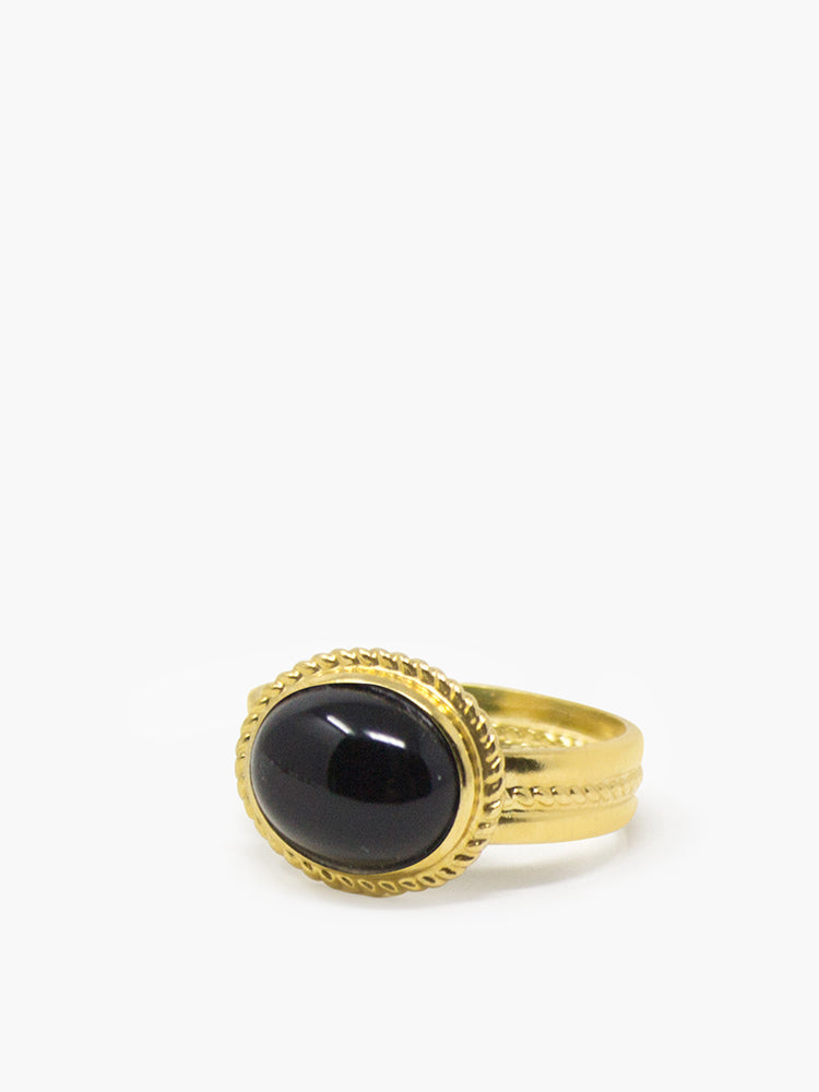 Fascetta Gold-plated Onyx Ring