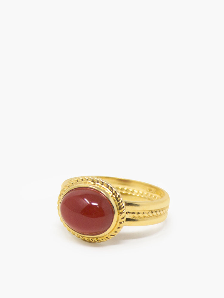 Fascetta Gold-plated Carnelian Ring
