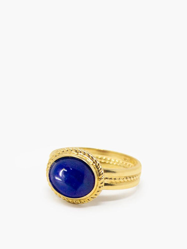 Vintouch's Gold-plated Fascetta Lapis Ring