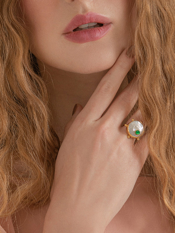 Rebel Rebel Green Emerald Stacking Ring