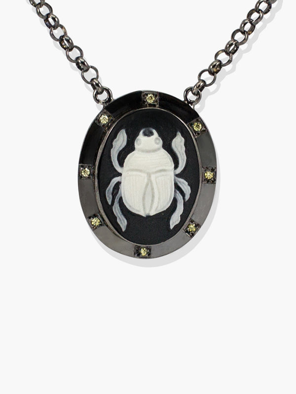 Scarab Cameo Necklace | Vintouch Jewels