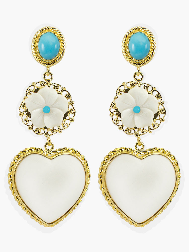Vintouch Mamma Mia Turquoise Earrings