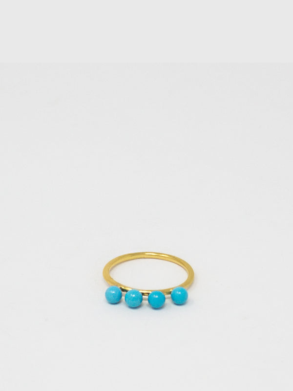 Turquoise Beads Stacking Ring