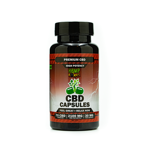Hemp Bombs High Potency Capsules 70ct 2100mg