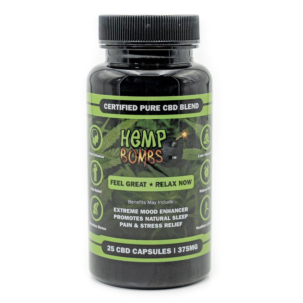 Hemp Bomb CBD Capsules 25ct 375mg