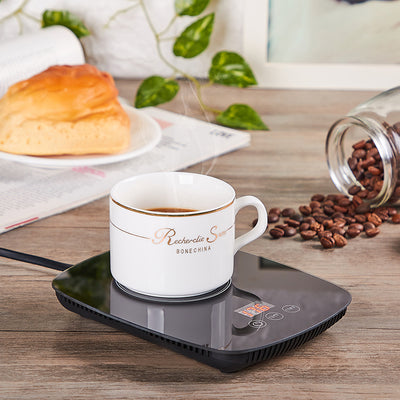Coffee Mug Warmer Cup Warmer for Office Desk Use,Auto Shut off Electric Beverage Warmer 25 Watt Electric with three Temperature Settings adjustable temperature From 131℉/ 55℃or 167℉/ 75℃ (Without Mug)