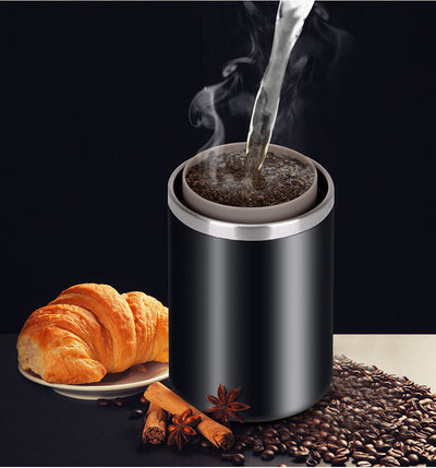 Copy of Portable Coffee Grinder Burr Automatic Espresso Machine Coffee Maker Rechargeable Battery Operated,Travel Coffee Tumbler for Home,Office,Cars,Camping,Travel-black (white)