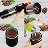 Portable Coffee Grinder Burr Automatic Espresso Machine Coffee Maker Rechargeable Battery Operated,Travel Coffee Tumbler for Home,Office,Cars,Camping,Travel-black