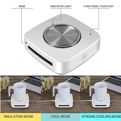 Coffee Mug Warmer, PALTIER Coffee Mug Warmer Electric Desktop Heated and Cooling Coffee Tea Mug Warmer Coffee Mug Cooler and Warmer