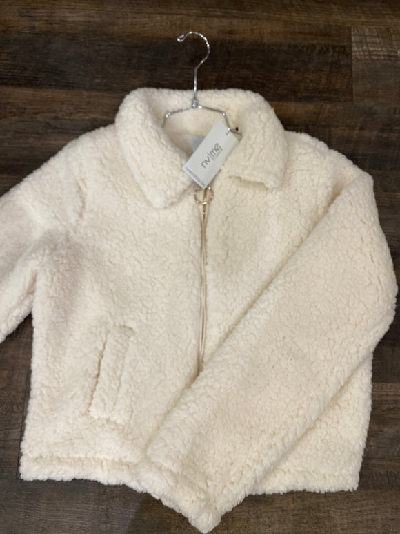 Ivory Faux Fur Jacket