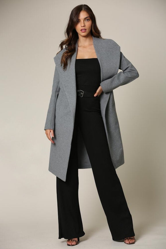 Olympia Grey Trench Coat