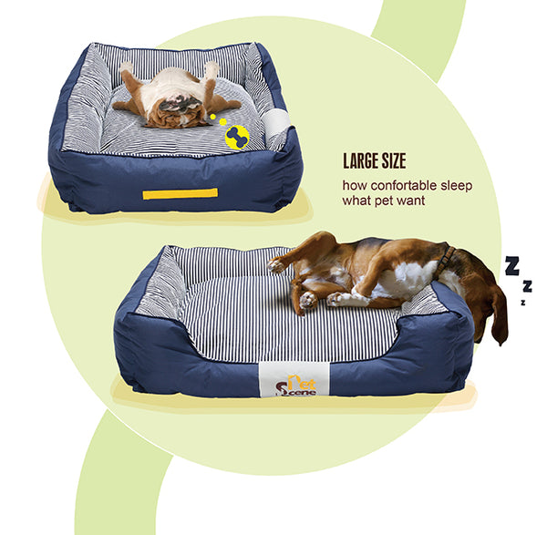 XXLarge Comfortable Dog Pet Bed Washable Dog Mattress Cover With Canvas Blanket & Dog Bone Toy