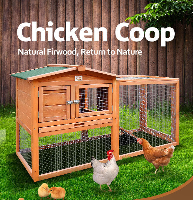 Large Chicken Coop Anti-Termite Rabbit Hutch Natural Fir Rabbit Duck Chicken Guinea Pig Cage