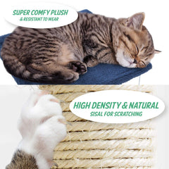 Paw Mate 70cm Mono High Quality Cat Tree Scratching Post Amazing Versatile Cat Tree Soft Cozy Cat Tree Tower Bed