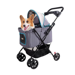 Ibiyaya Easy Strolling Pet Buggy - Simple Gray