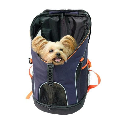 Image of Ultralight Cat Puppy Dog Carrier Backpack Foldable Pet Carrier Bag With Built-in Security Leash