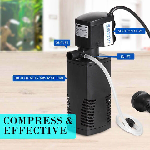 Image of 1.0m 600LH Aqua Aquarium Filter Pump Submersible Pump High Efficiency and Energy Saving