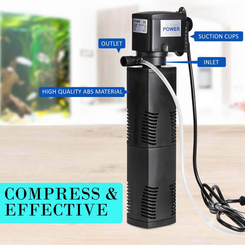 1.6m 1200LH Aqua Aquarium Filter Pump Submersible Pump High Efficiency