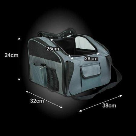Image of Car Seat Carrier Pet Dog Soft Crate - Grey