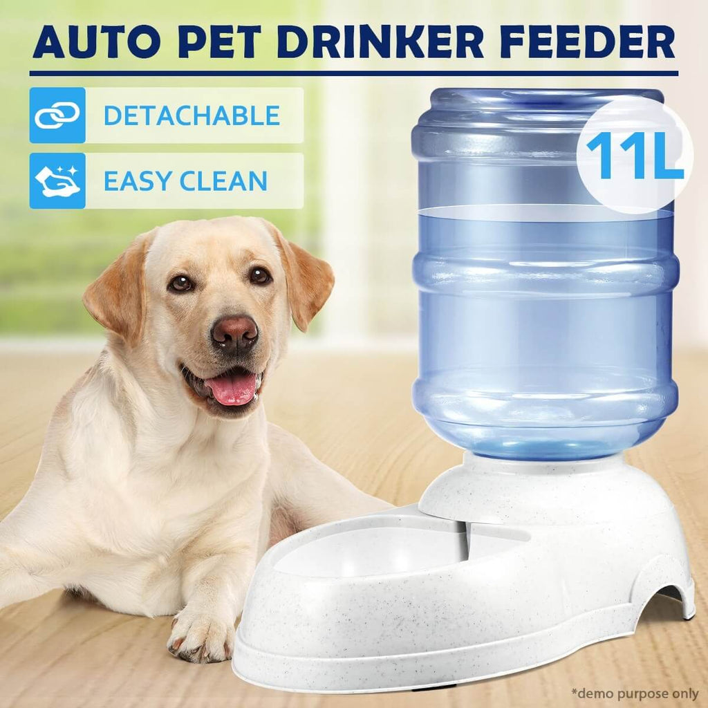 11L Auto Pet Waterer Automatic Water Dispenser Drinking Feeder Easy Clean and Detachable