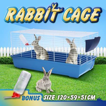 120Cm Pet And Rabbit Mobile Safety Pen With Water Bottle Portable Handles at Both Cage Sides Everyday Pets