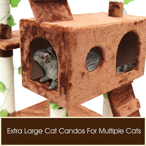 3 Level Cat Gym Scratching Post - 60 x 55 x 185cm