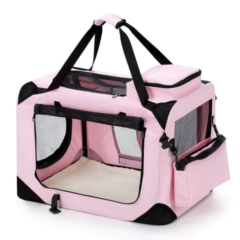 Image of Portable Foldable Soft Dog Crate-Medium-PinkAfterpay ZipPay Australia Melbourne Sydney Adelaide Gold Coast