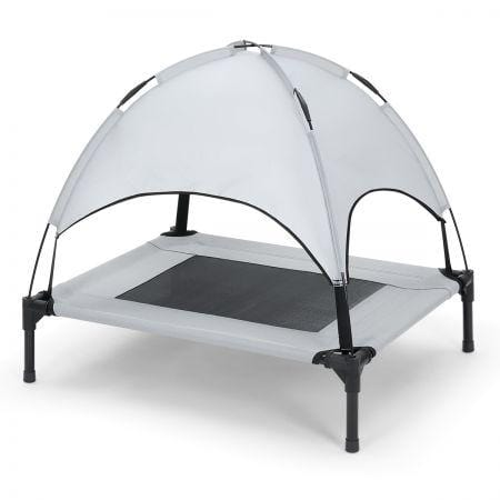 Image of Heavy Duty Pet Trampoline Cot With Cot Canopy- Small