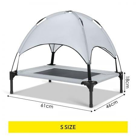 Image of Heavy Duty Pet Trampoline Cot with Cot Canopy