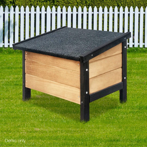 Easy Install Dog Kennel Storage Box Fir Wooden Organizer Dog House Accessory Treat Box 35 x 22 x 42cm