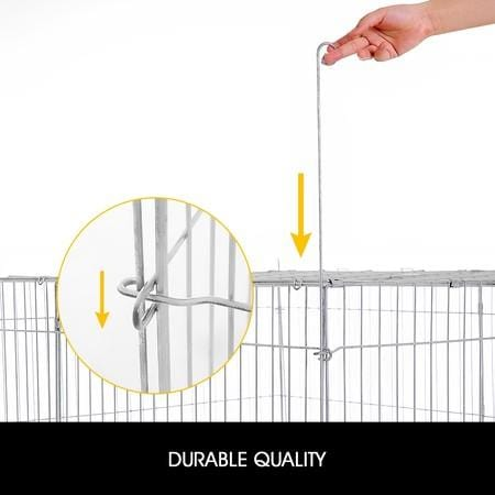 Image of 1.2M Pet Metal Cage Playpen Dog Cat Enclosure with Fabric Cover