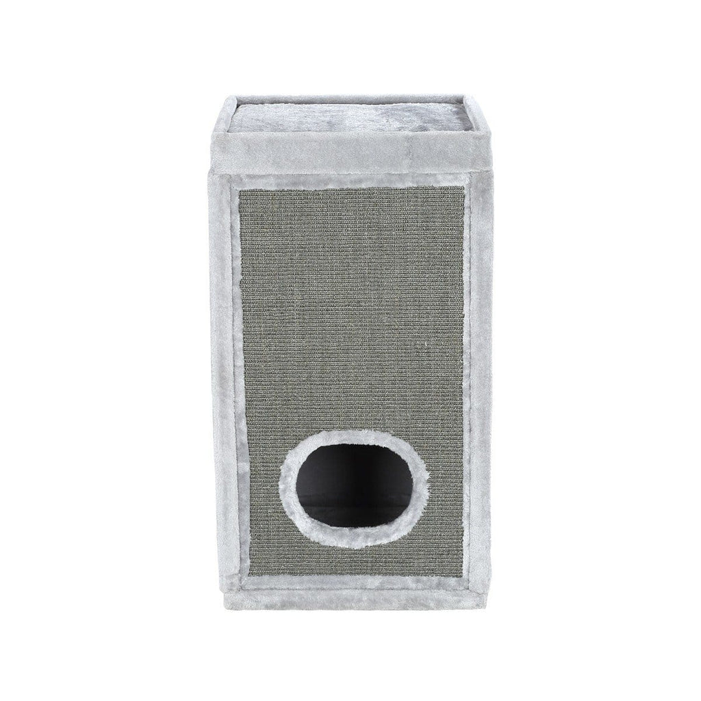 90Cm Cat Scratching Post Barrel Pet Tower Climbing Frame - Light Grey