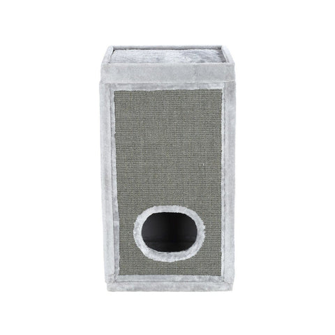 Image of 90Cm Cat Scratching Post Barrel Pet Tower Climbing Frame - Light Grey