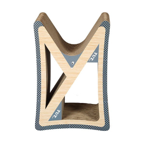 Cat Scratching Post Corrugated Cardboard Scratcher Scratchboard - Triangle Shape