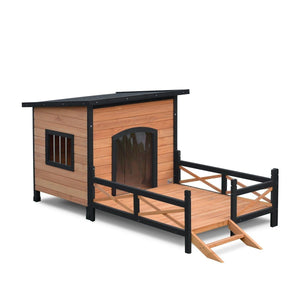 Timber Pet Dog Cabin House with Storage and Bowls 3XLAfterpay ZipPay Australia Melbourne Sydney Adelaide Gold Coast