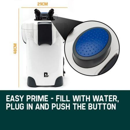 Impressive P6000 External Aquarium Air Filter Easy Clean Water Aquarium Pump Bonus Filter Media Kit